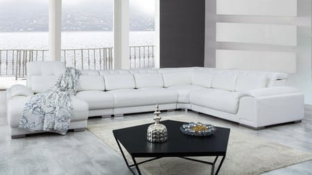 Bronte Leather Modular Lounge Option B