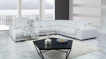 Bronte Leather Modular Lounge Option A