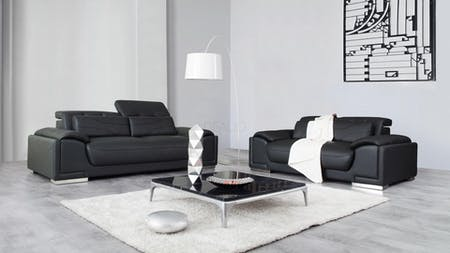 Bronte Leather Sofa Suite 3 + 2