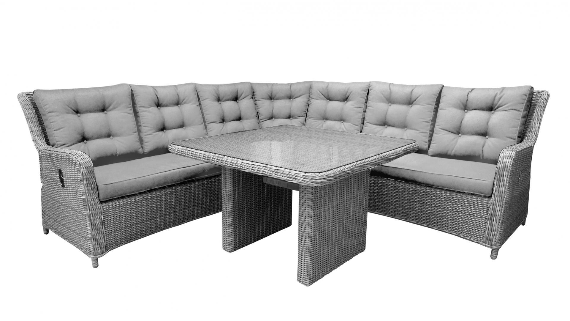 Atlantis Outdoor Wicker Recliner Corner Lounge With Table