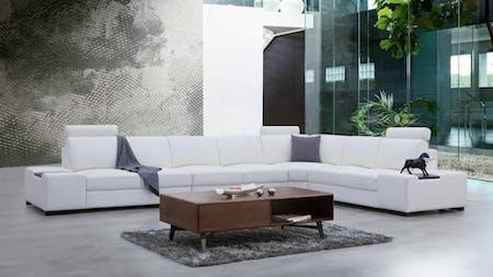 Hollywood Leather Corner Lounge Option C