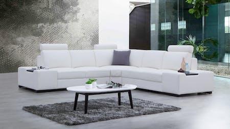 Hollywood Leather Corner Lounge Option A