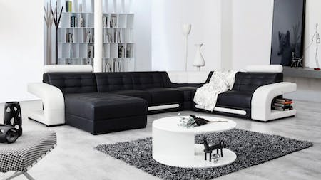 Casanova Leather Modular Lounge Option A