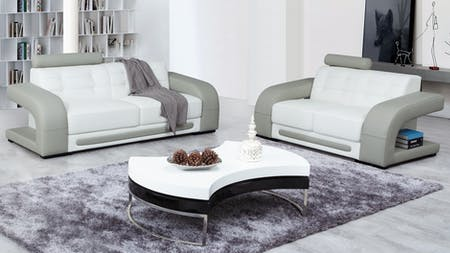 CASANOVA Leather Sofa Suite 3 + 2