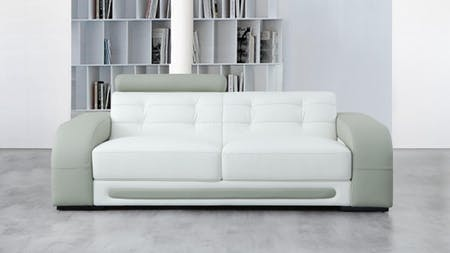 Casanova Leather Three Seat Sofa