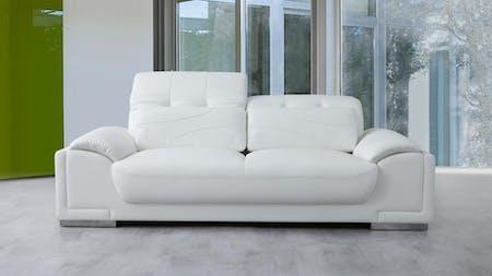 Bronte Leather Three Seat Sofa