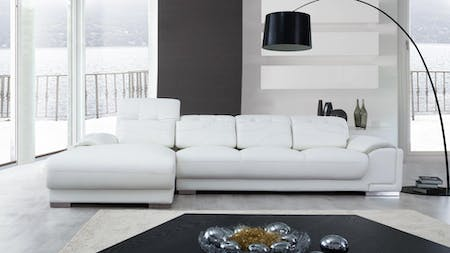 Bronte Leather Chaise Lounge Option C
