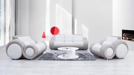 Unwind Leather Sofa Suite 3 + 2 + 1