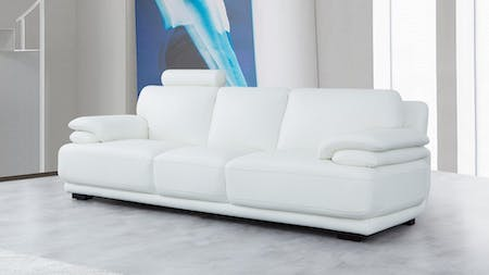 Juliet Leather Three Seat Sofa
