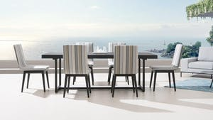 Elite 7-Piece Outdoor Aluminium Dining Set With Kroes Chairs