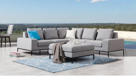 June Outdoor Corner Lounge With Ottoman