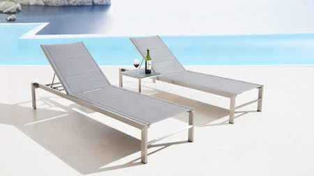 Element Sun Lounge And Table (twin Set)