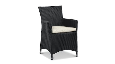 Letizia Outdoor Wicker Dining Chair Set of Two