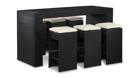 Santa Maria 7-Piece Outdoor Wicker Bar Set