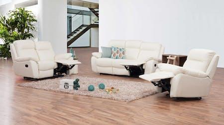 Berkeley Leather Recliner Sofa Suite 3 + 2 + 1