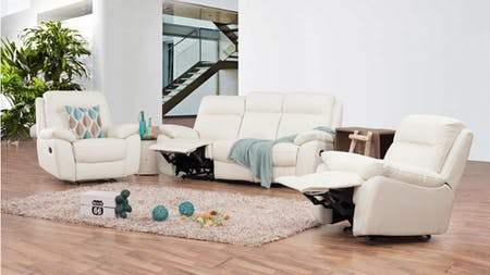 Berkeley Leather Recliner Sofa Suite 3 + 1 + 1