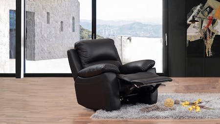 Lincoln Leather Recliner Armchair