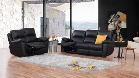 Lincoln Leather Recliner Sofa Suite 3 + 2