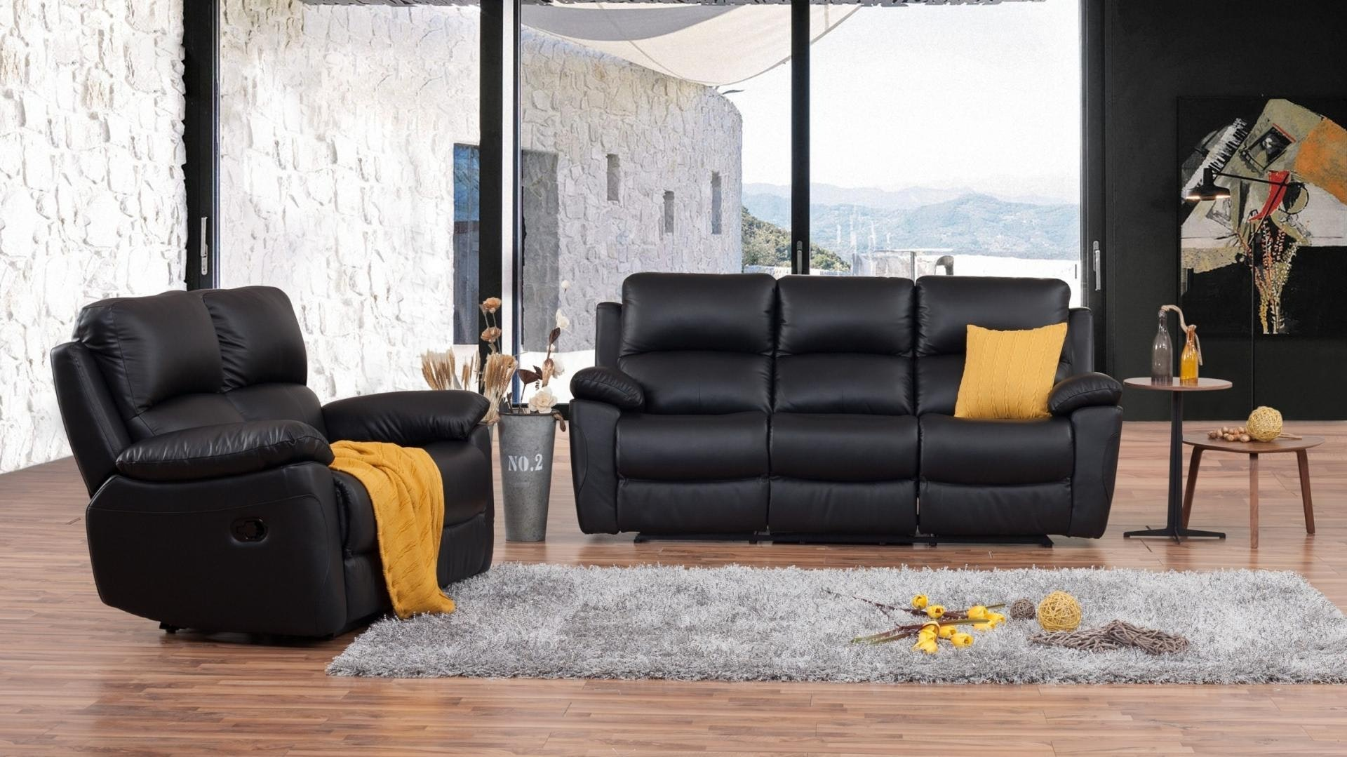 Lincoln Leather Recliner Sofa Suite 3 2 Lounge Life