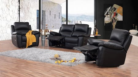 Lincoln Leather Recliner Sofa Suite 2 + 1 + 1