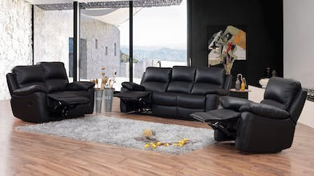 Lincoln Leather Recliner Sofa Suite 3 + 2 + 1