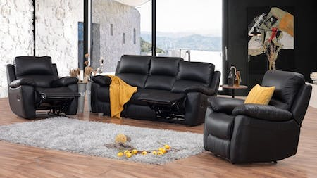 Lincoln Leather Recliner Sofa Suite 3 + 1 + 1