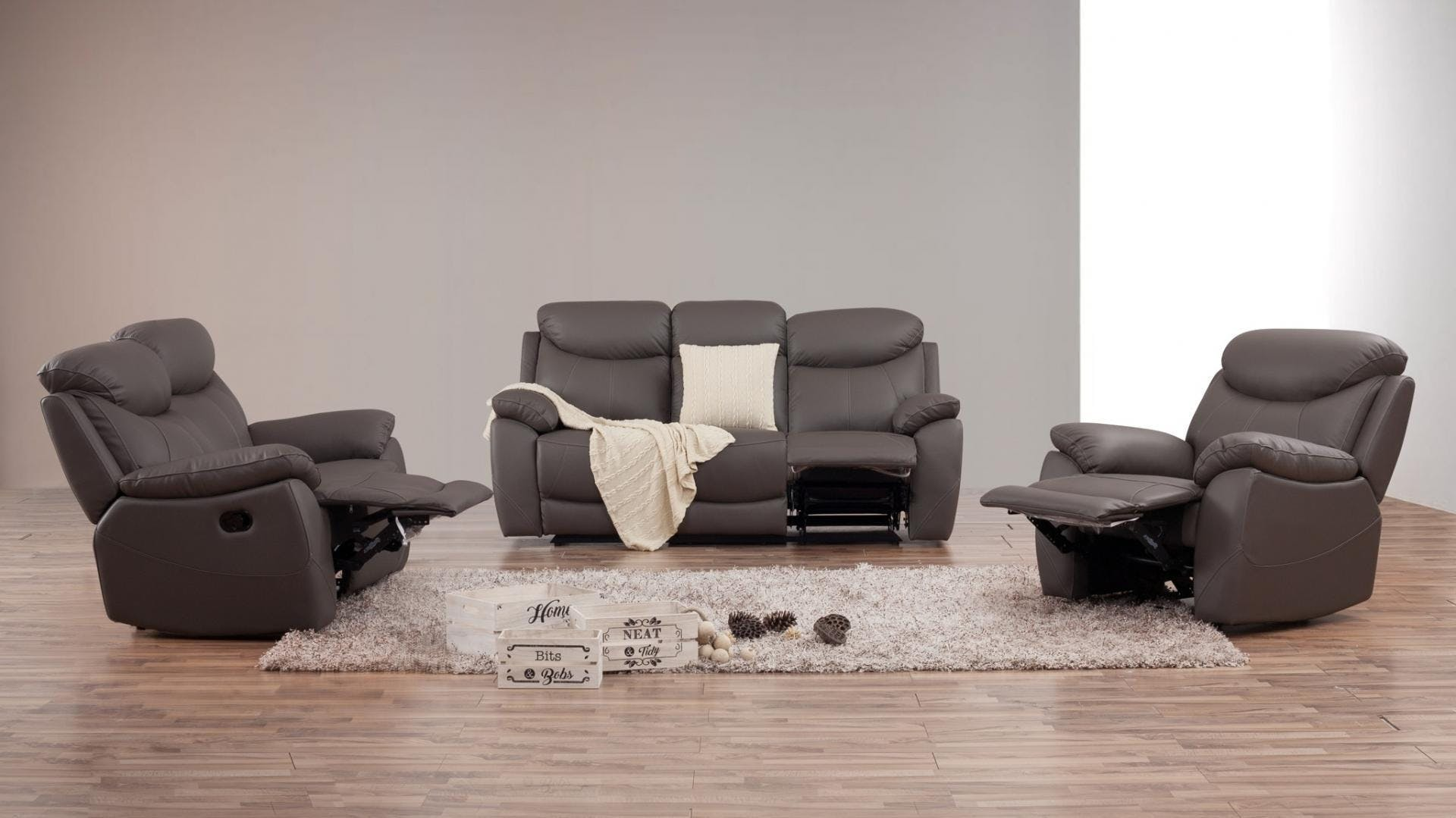 Pleasant Brighton Leather Recliner Sofa Suite 3 2 1 Lounge Life Gmtry Best Dining Table And Chair Ideas Images Gmtryco