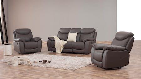 Brighton Leather Recliner Sofa Suite 3 + 1 + 1