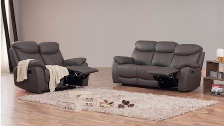 Brighton Leather Recliner Sofa Suite 3 + 2
