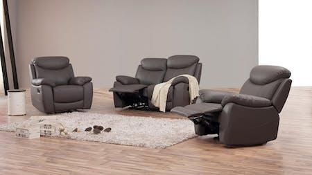 Brighton Leather Recliner Sofa Suite 2 + 1 + 1