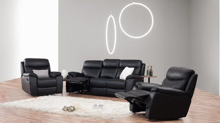 Balmoral Leather Recliner Sofa Suite 3 + 1 + 1