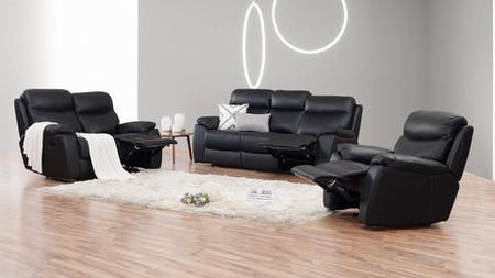 Balmoral Leather Recliner Sofa Suite 3 + 2 + 1