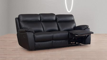 Balmoral Leather Recliner Three Seater Sofa