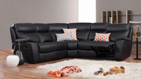 Balmoral Leather Recliner Corner Lounge Option A