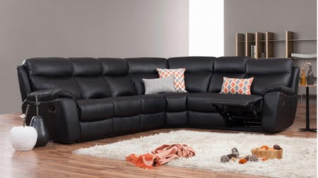 Balmoral Leather Recliner Corner Lounge Option B