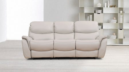 Richmond Leather Recliner Three Seater Sofa