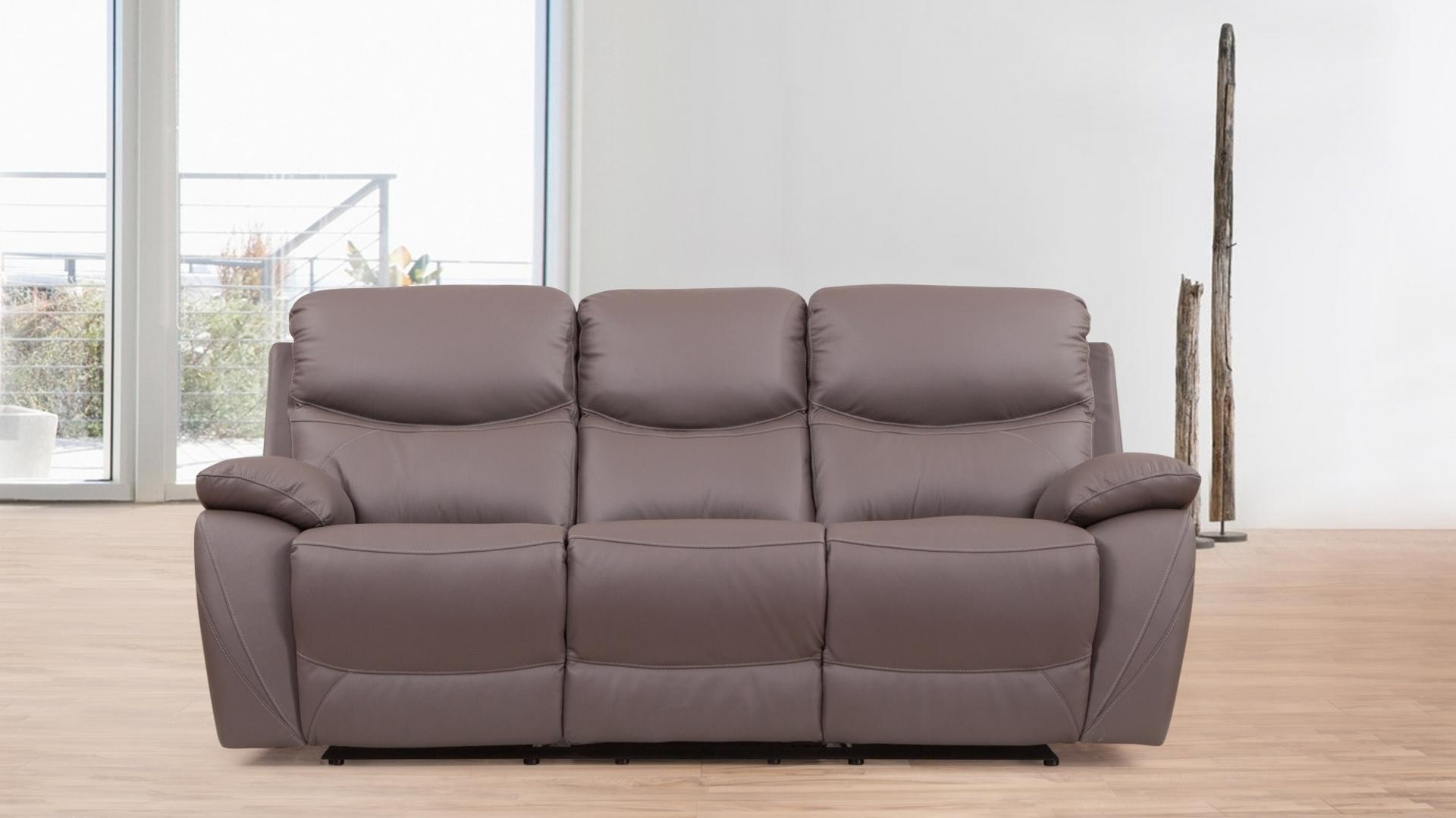 Chelsea Leather Recliner Three Seater Sofa - Lounge Life