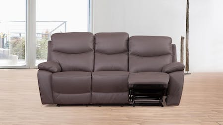 Chelsea Leather Recliner Three Seater Sofa