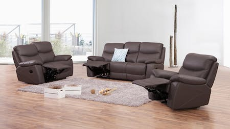 Chelsea Leather Recliner Sofa Suite 3 + 2 + 1