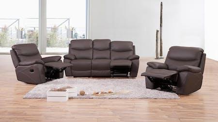Chelsea Leather Recliner Sofa Suite 3 + 1 + 1