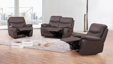 Chelsea Leather Recliner Sofa Suite 2 + 1 + 1