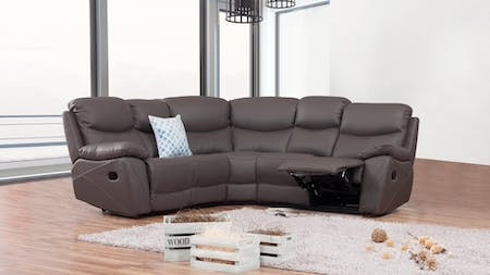 Chelsea Leather Recliner Corner Lounge Option A