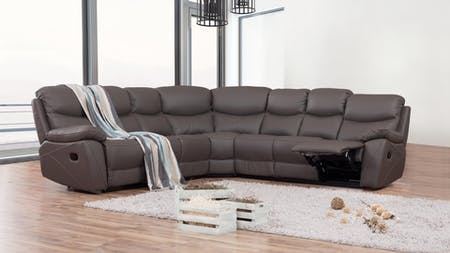 Chelsea Leather Recliner Corner Lounge Option C