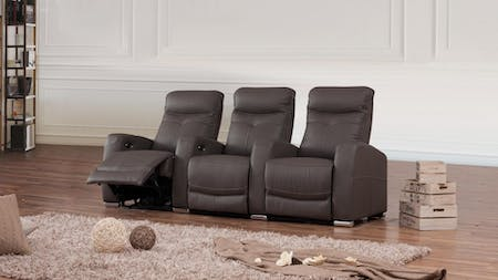 Regent Leather Recliner 3 Seater Home Theatre Recliner