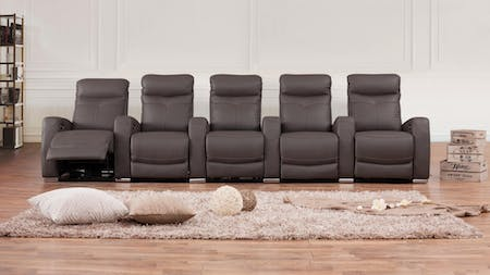 Regent 5 Seater Leather Home Theatre Lounge