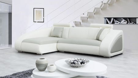 Indiana Leather Chaise Lounge Option A