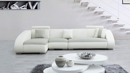 Indiana Leather Chaise Lounge Option B
