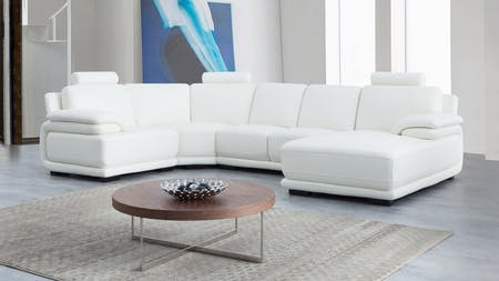 Juliet Leather Modular Lounge Option C