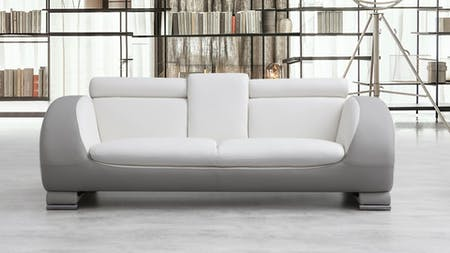 Carmel Leather Three Seat Sofa