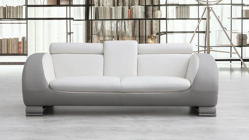 Carmel Leather Three Seat Sofa